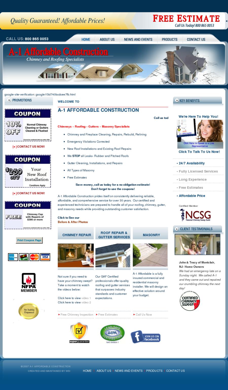 A 1 Affordable Construction Inc Reviews Complaints